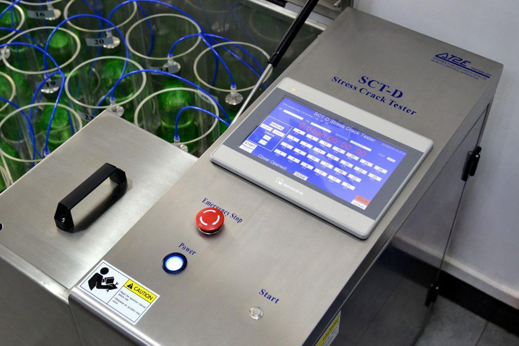 SCT-D Stress Crack Tester (26 Positions) – For testing the Stress Crack Resistance of Carbonated Soft Drink Bottles Image